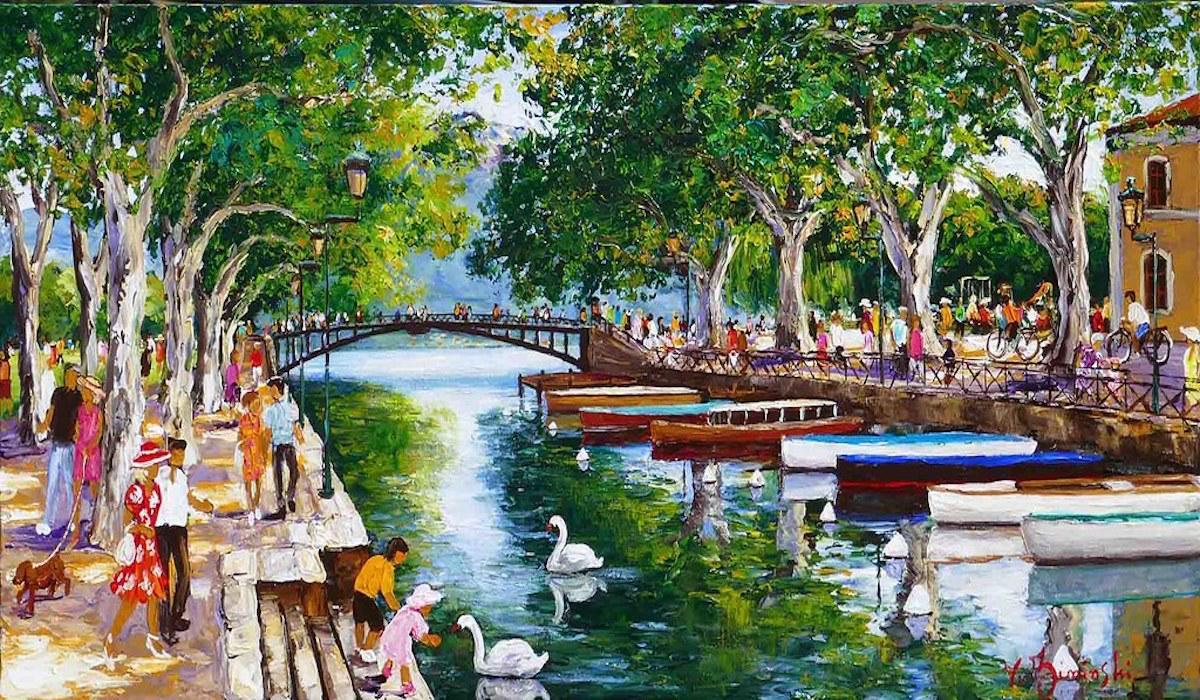 Annecy, le canal du Vassé - Véronique Ziminski