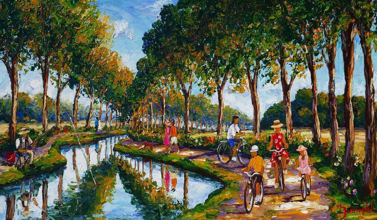 Le canal du Midi - Véronique Ziminski